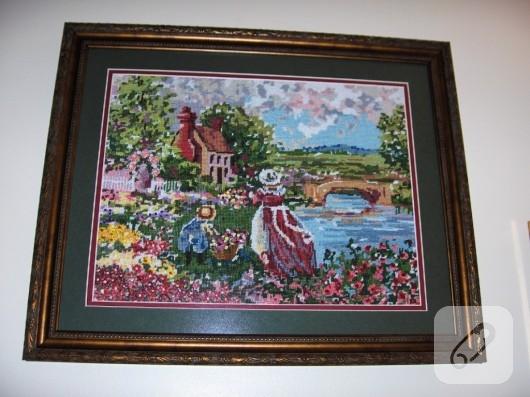kanaviçe tablo yapımı