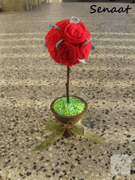 kumaştan çiçek