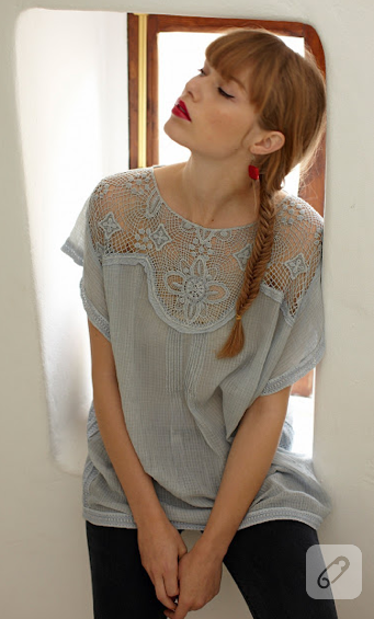 dantel bluz
