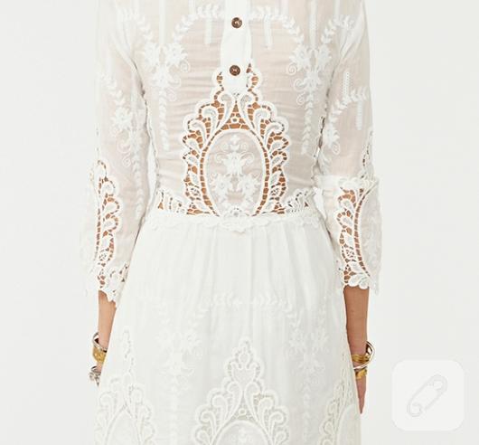 dantel elbise