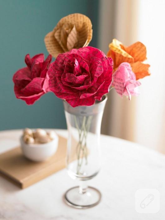 Dekoratif Kağıt Çiçekler