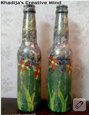 El boyaması şişeler