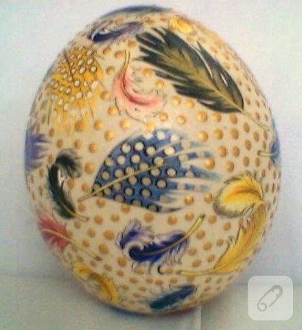 Tüylü Devekuşu Yumurtası 10marifetorg