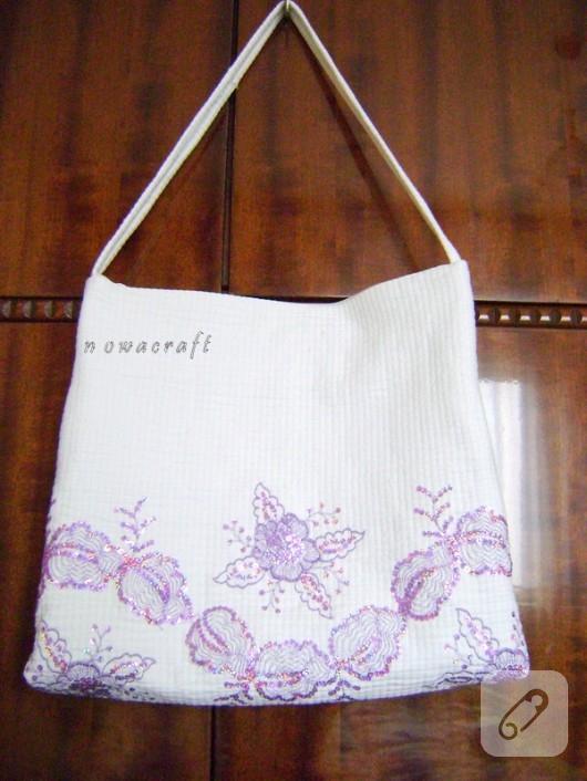 işlemeli çanta