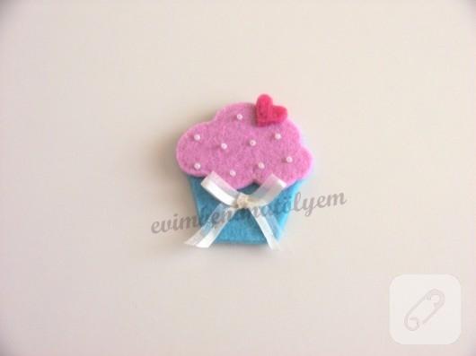Keçe cupcake
