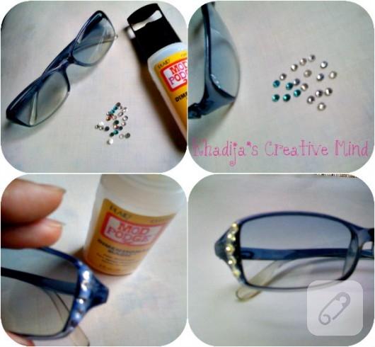 Gözlük çerçevesi Süsleme
