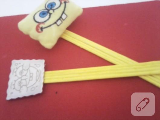 Sponge Bob'lu kitap ayracı