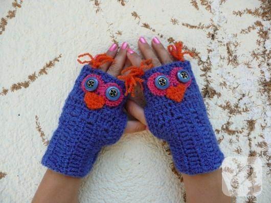 Baykuşlu eldiven