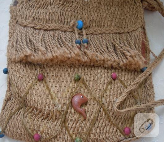 Kınnap ipinden yazlık çanta