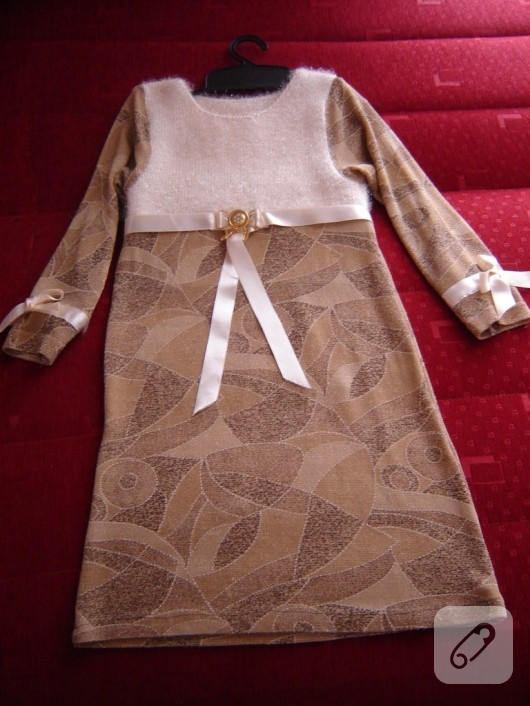 Eski bluzden elbise