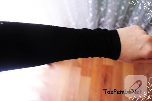 Eski tişörtten kolluk yapımı