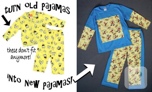Küçülen çocuk pijamalarını değerlendirme