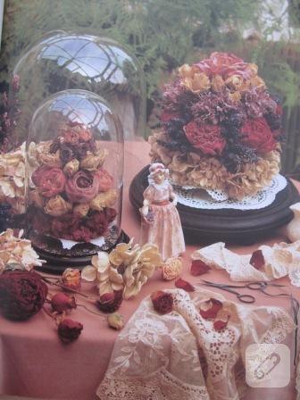 Kurutulmuş çiçeklerden projeler