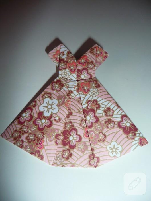 Origami elbise yapımı