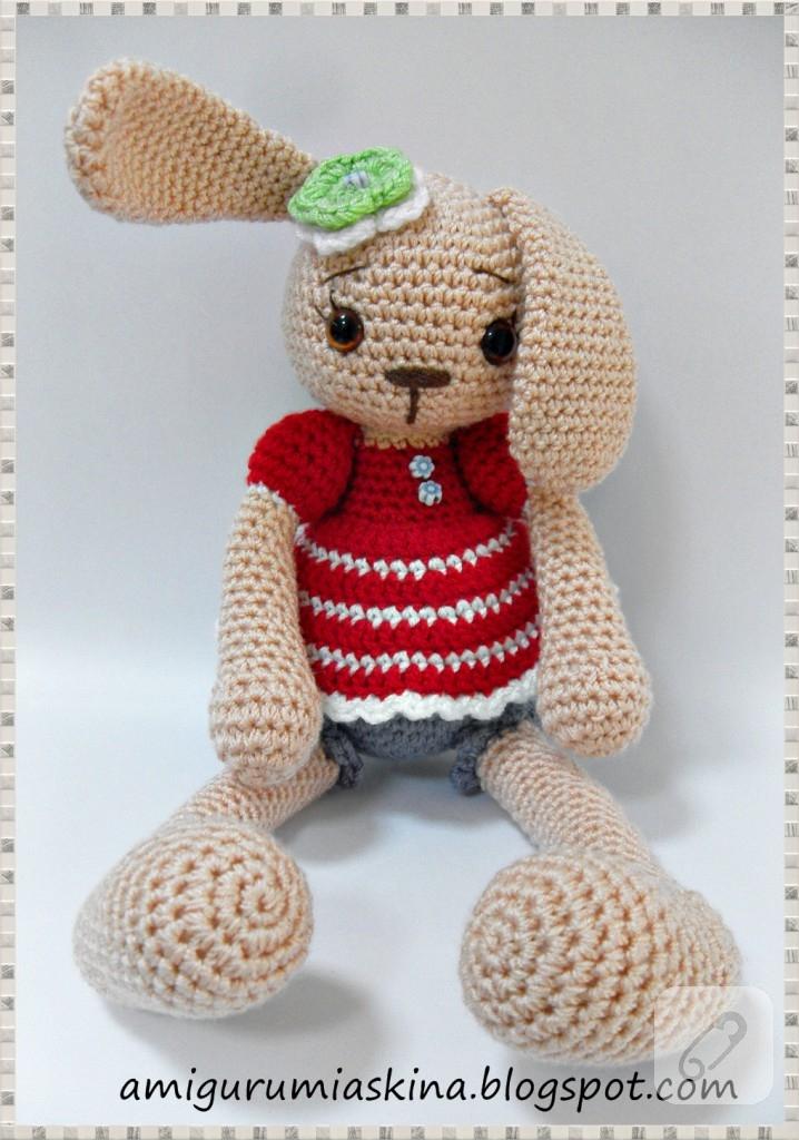 Amigurumi Erkek Tavşan Yapılışı- Amigurumi Crackers Bunny Free Pattern   1024x718