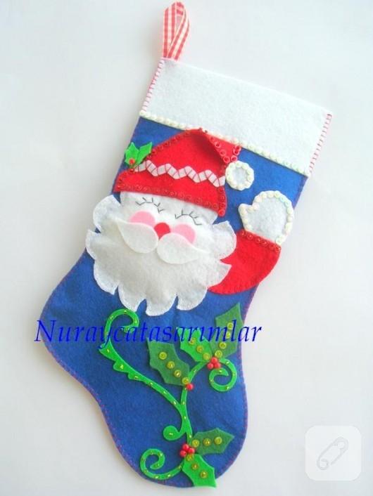 keçe yeni yıl çorabı