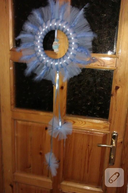 Tüllü kapı süsü