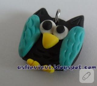 Fimo baykuş kolye uçları