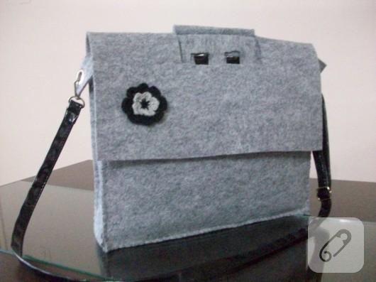 Keçe laptop çantası