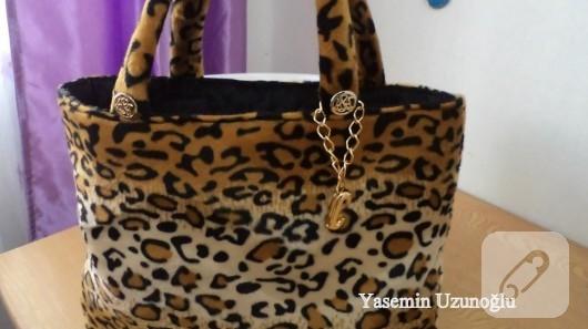 Leopar çanta dikişi