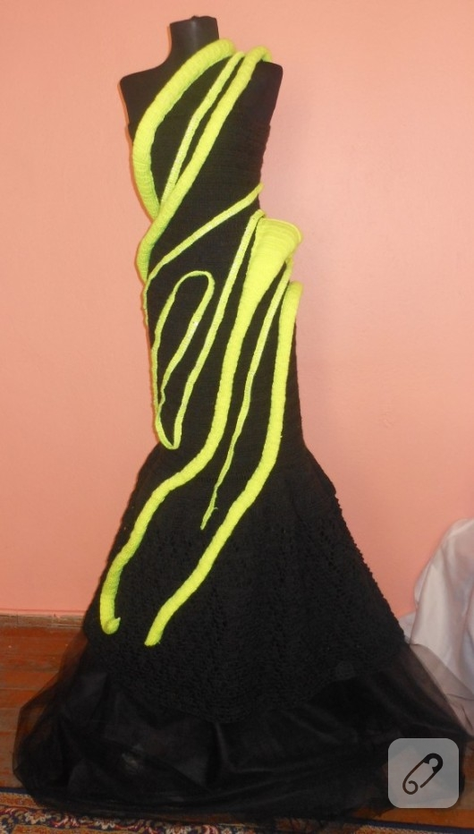 örgü elbise