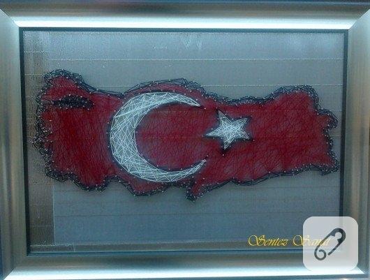 filografi-civi-sanati-turk-bayragi-turkiye-harita-pano