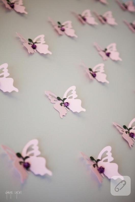 kelebek duvar süsü