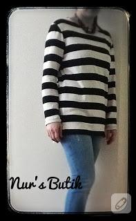 Çizgili bluz