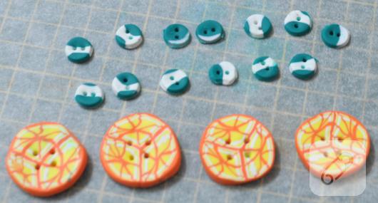 Fimo düğmeler