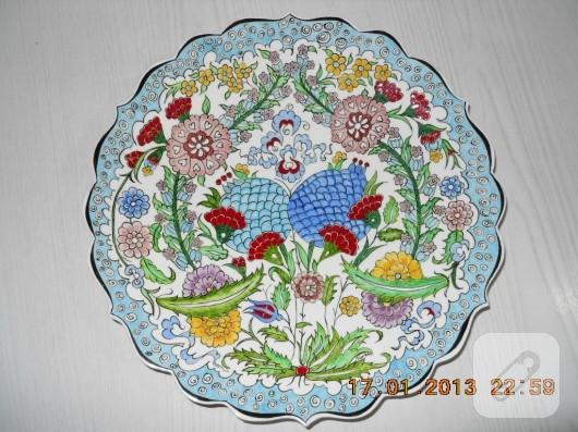 Çini desenli tabak