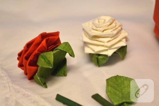 Origami gül yapımı