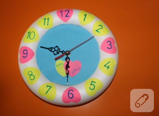 Duvar süsü saat