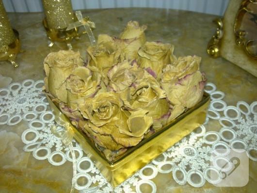 kuru güller ile süsleme