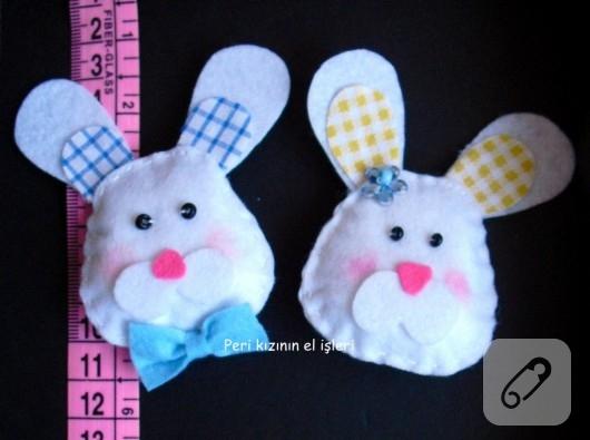 keçe tavşan bebek şekeri modelleri