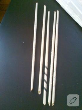 Kağıttan dekoratif çubuklar