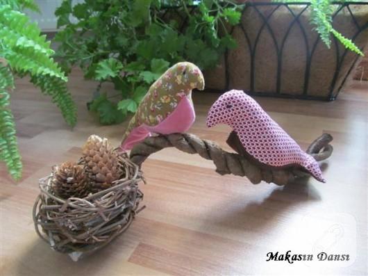 Dekoratif kumaş kuşlar
