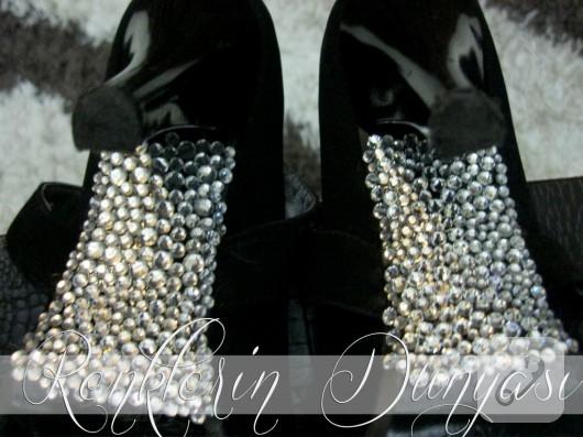 Swarovski taşlı ayakkabı