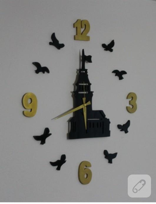 El yapımı ahşap saat