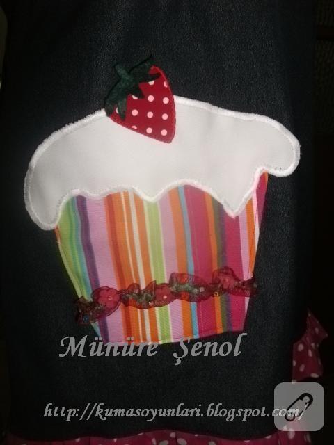 Cupcakeli mutfak önlüğü