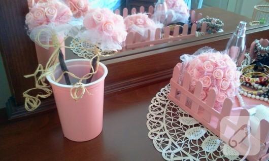 dekoratif top çiçekler