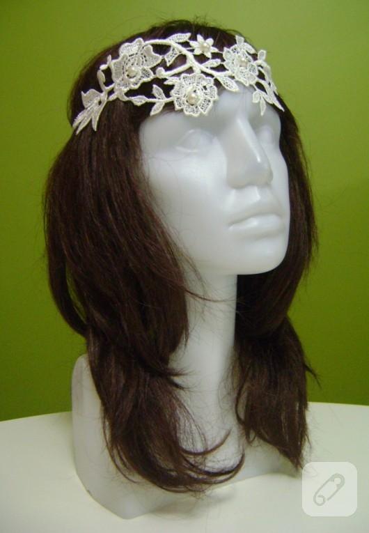 dantel saç bandı
