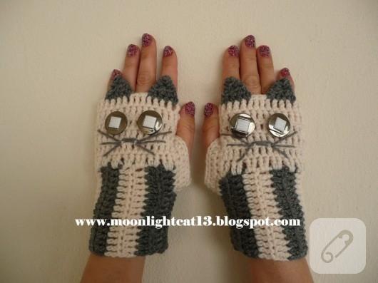 Kedili eldivenler