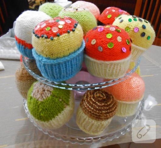 örgü cupcake