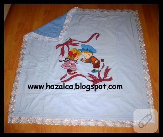 Kumaş boyama battaniye