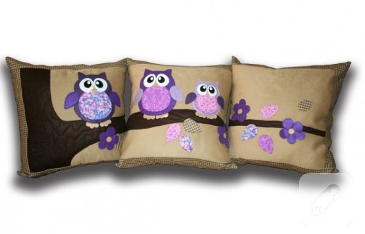 baykuşlu yastıklar