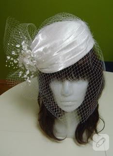Özel tasarım nikah şapkası