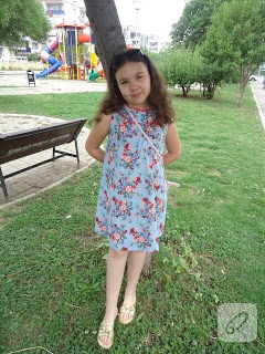 yazlık çocuk elbisesi