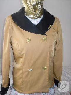 Kruvaze garnili ceket
