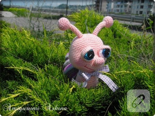 كروشيه حلزونة اميغرومي 🐌\crochet amigurumi snail - YouTube | 397x530