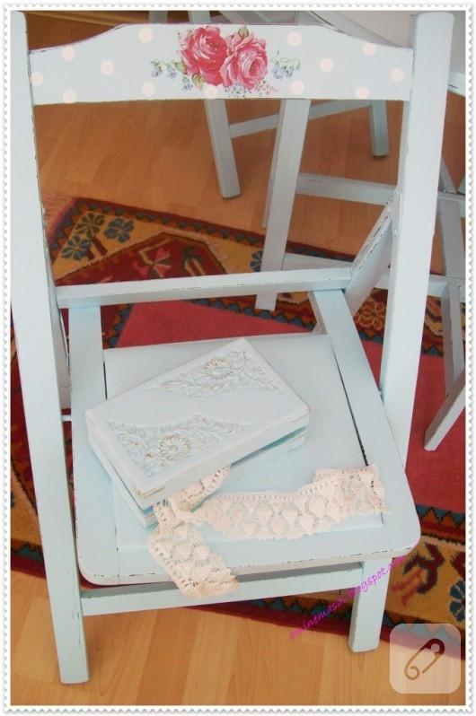 sandalye boyama
